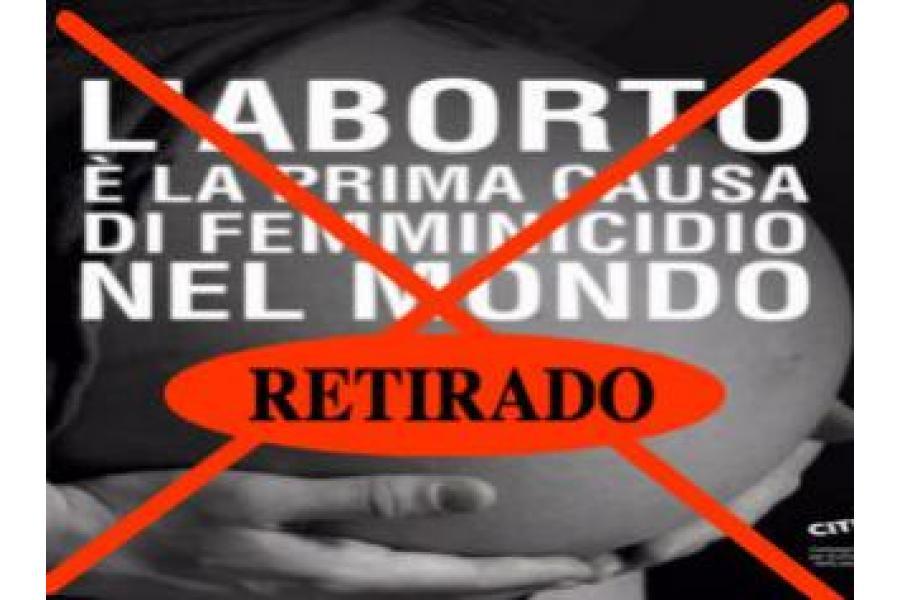 Retirada la polémica campaña contra el aborto en Roma